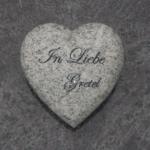 Wiscount White Herz mit Inschrift