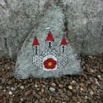 Wappen von Blomberg auf Stein gemalt