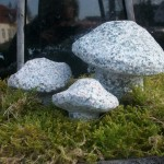 3er Set Granitpilze