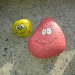 selbstgemalte Steine :)